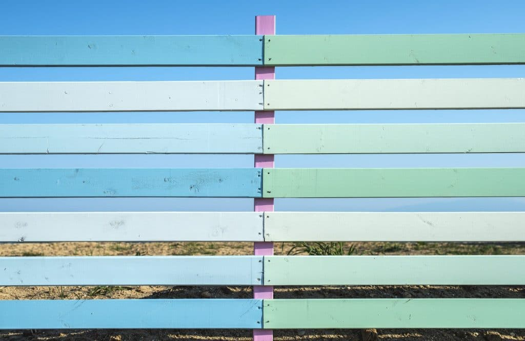 Pool fence painting